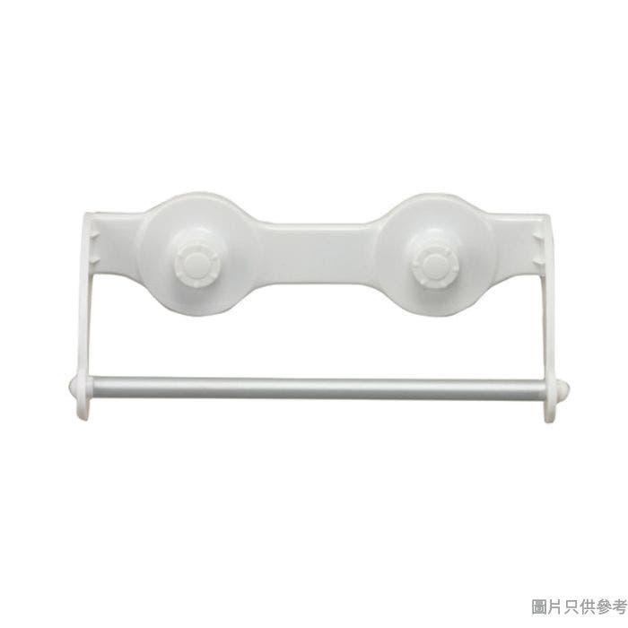 Pricerite實惠塑膠雙廁紙架附吸盤 28W x 10D x 10Hcm (承重2kg)