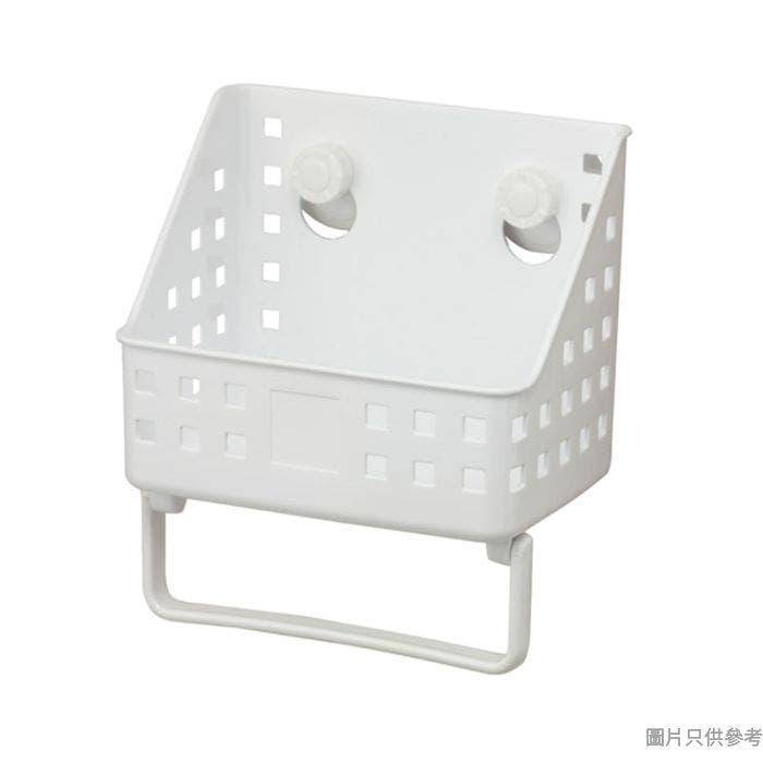 Pricerite實惠塑膠多功能雜物籃附吸盤 20W x 14D x 23Hcm  (小)(承重3kg)