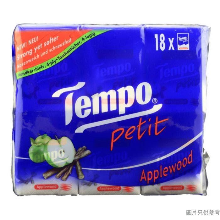 Tempo得寶迷你紙手巾7片 (18包裝) - 蘋果木味
