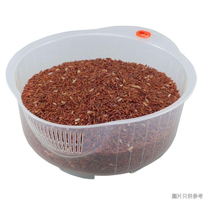 Inomata日本製塑膠洗米盤 25.6W x 22.7D x 11.2Hcm