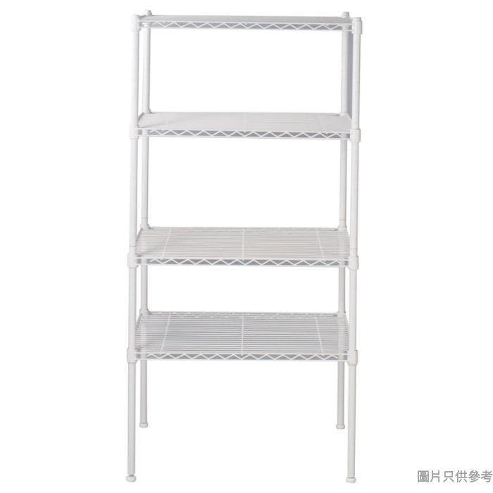 WHITE MESH 4層層架 600W x 450D x 1200Hmm -白色