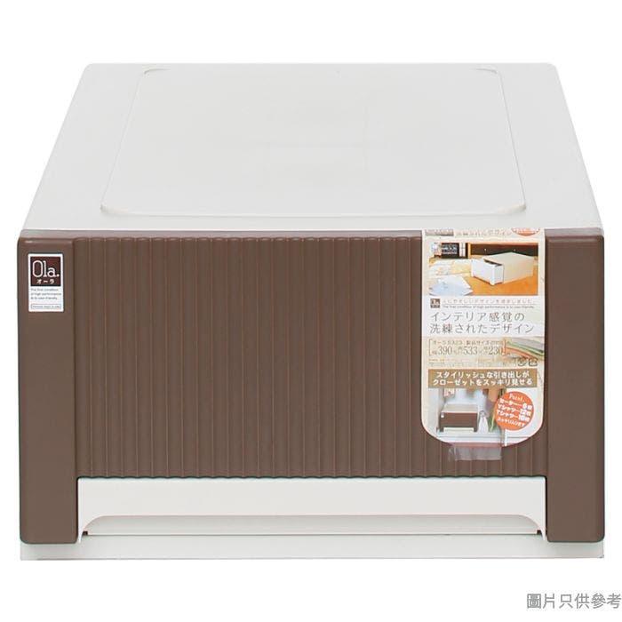 日本製塑膠抽屜 390x533x230mm5323 -啡色