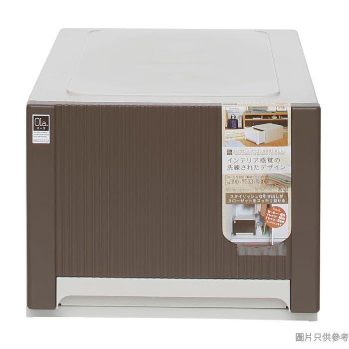 日本製塑膠抽屜390x533x300mm 5330 -啡色