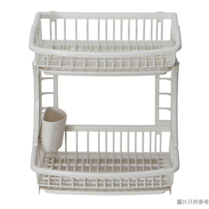 Pearl Life日本製2層塑膠碗碟架375W x 300D x 420Hmm H-6615