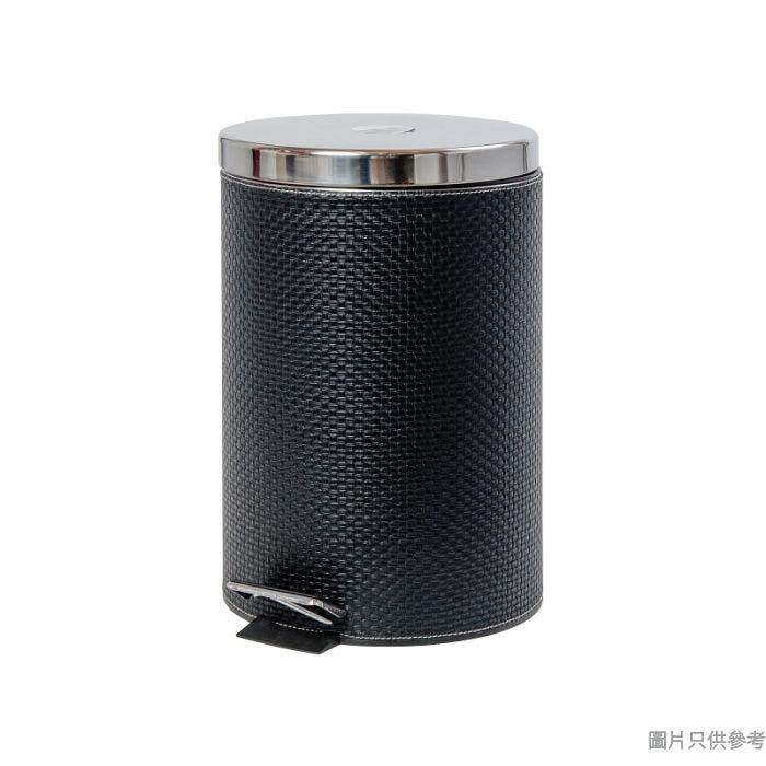SOHO NOVO PVC仿皮緩降腳踏垃圾桶 20L -黑色