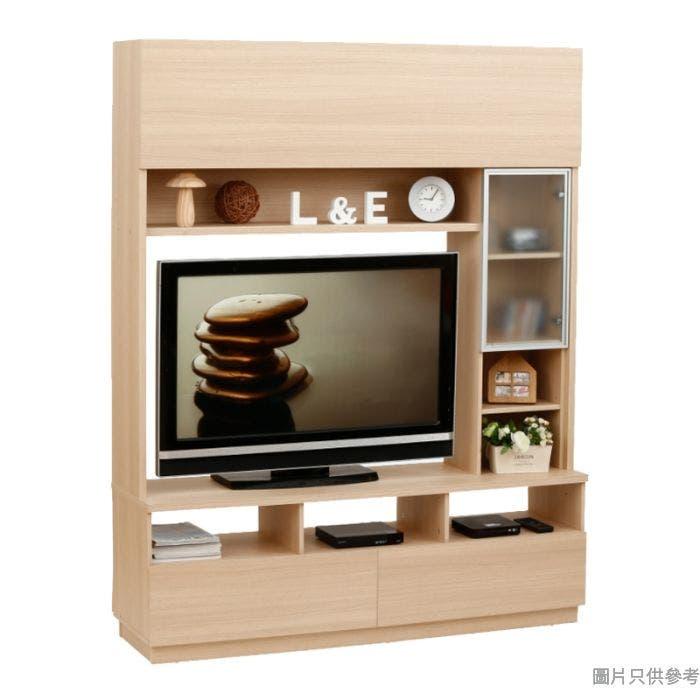Staple 59吋兩櫃桶高身電視組合櫃 (橡木色)