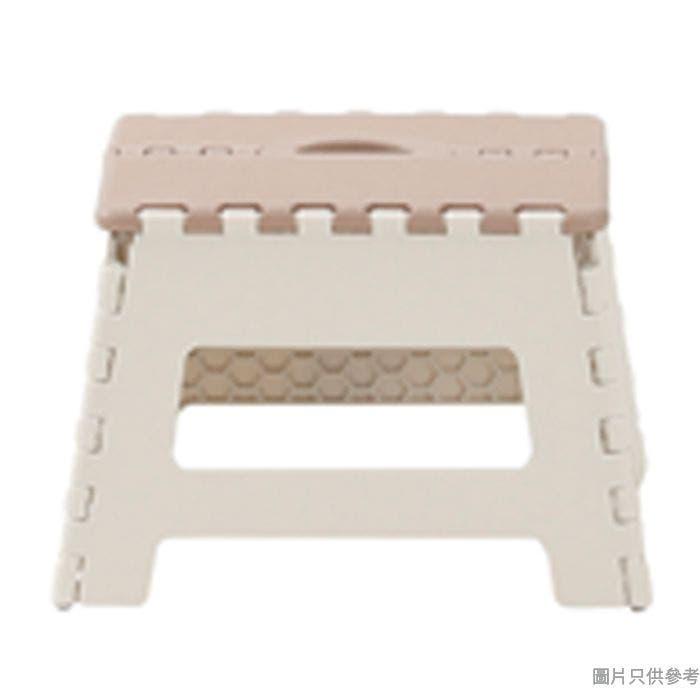 GIA 台灣製巧易摺合凳 340W x 272D x 229Hmm - 啡色配淺灰色