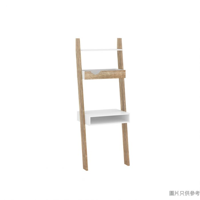 ARETHA靠牆梯形書檯 650W x 450D x 1765Hmm - 木紋色配白色