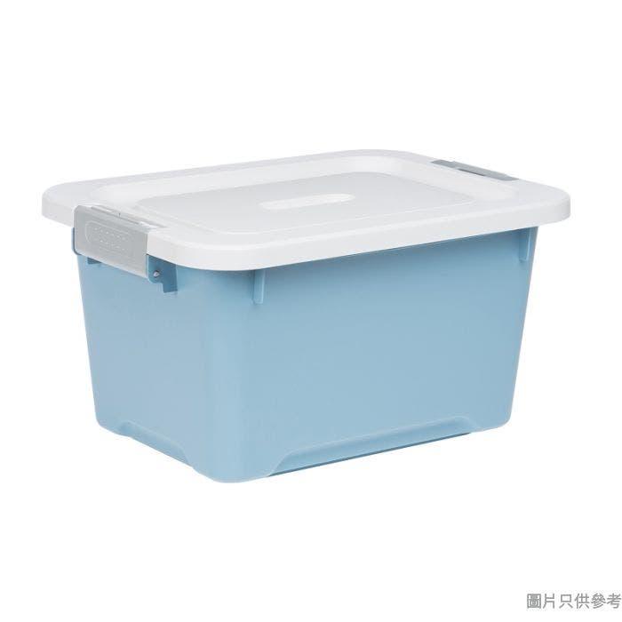 Prime Living韓國製塑膠附蓋儲物箱細407W x 303D x 220Hmm - 淺藍色