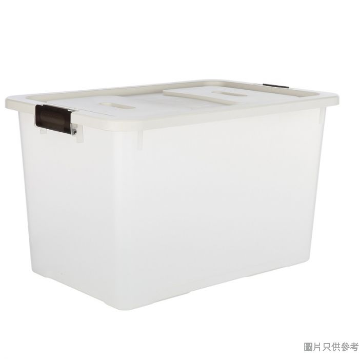 Prime Living韓國製塑膠附蓋儲物箱大607Wx407Dx368Hmm - 磨砂透明