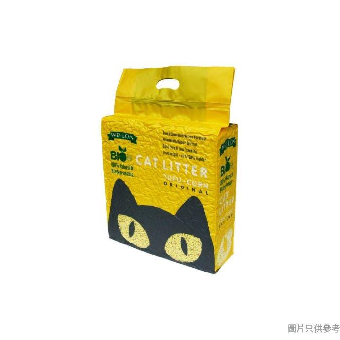 Wellon Bio威龍生物豆腐粟米砂6L - 原味