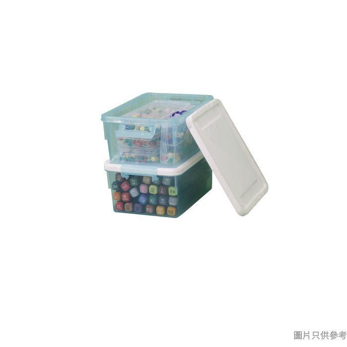 塑膠儲物盒177W x 130D x 82Hmm X-6315 (2件裝) - 藍色