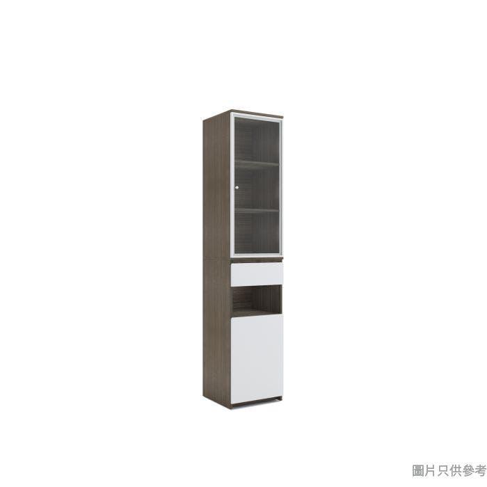 STAPLE 高身廳櫃附加櫃400W x 400D x 1900Hmm - 胡桃色配白色