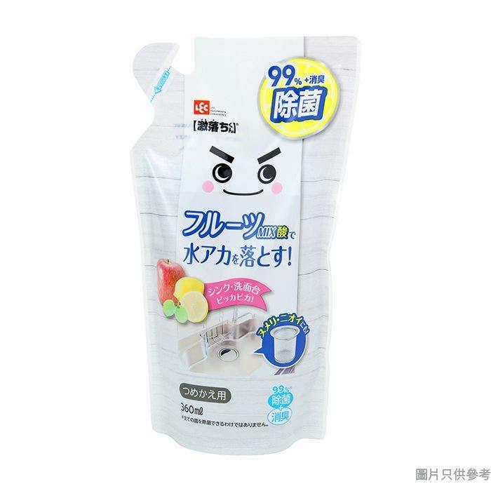 LEC 激落君日本製果酸+乳酸電解水補充裝 360ml