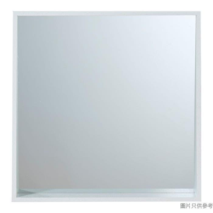 方形掛牆鏡 400W x 100D x 400Hmm - 水曲柳木色