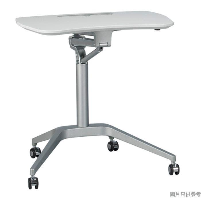 ITB-SI-PSD2G 人體工學單杆油壓升降工作檯(鋁合金支架底盤) - 銀色配白色