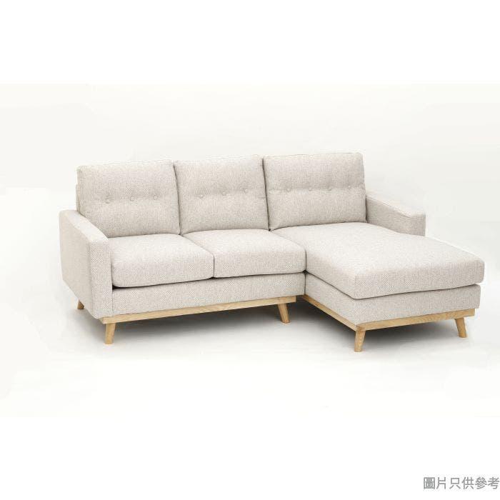 CHITTI卓蒂ELLIOTT ZF-441 兩座位連左貴妃布藝梳化2100W x 1520D x 880Hmm - 淺啡白色