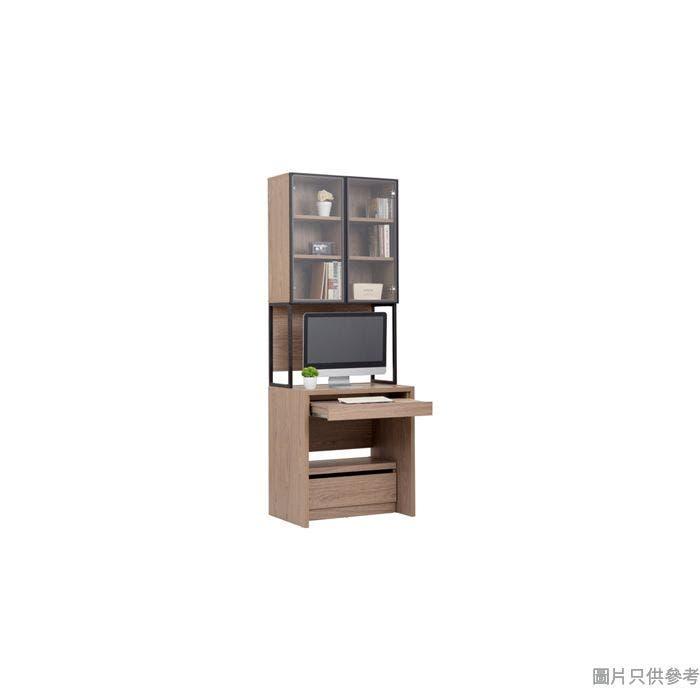 ARCUS BK-A-2820 電腦檯連鋁框玻璃門書架704W x 500D x 1965Hmm