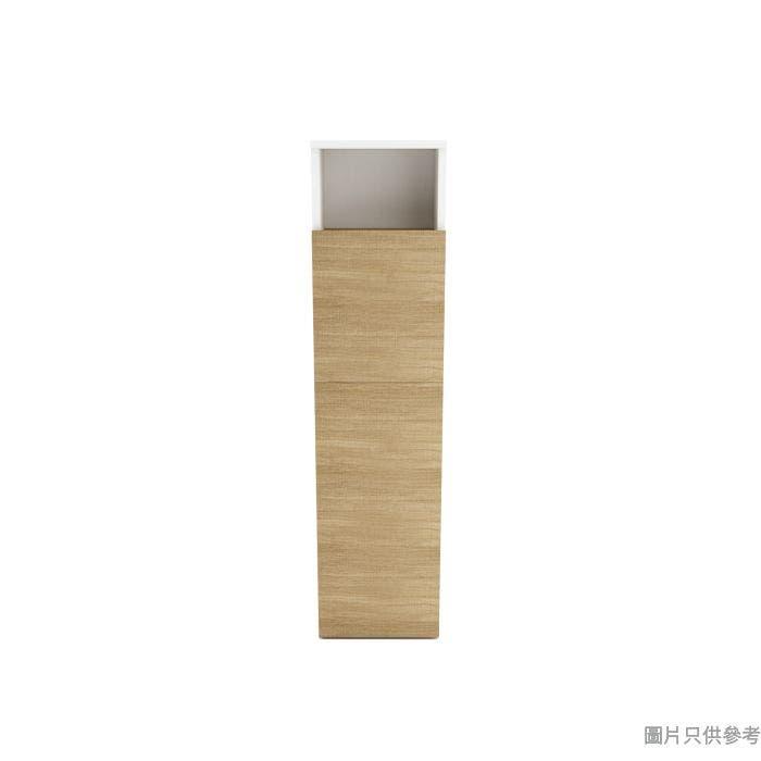 SPACE CUBE 隨意骰HE2-MD 側收納床屏櫃 300W x 200D x 1200Hmm- 啡色面配白木紋