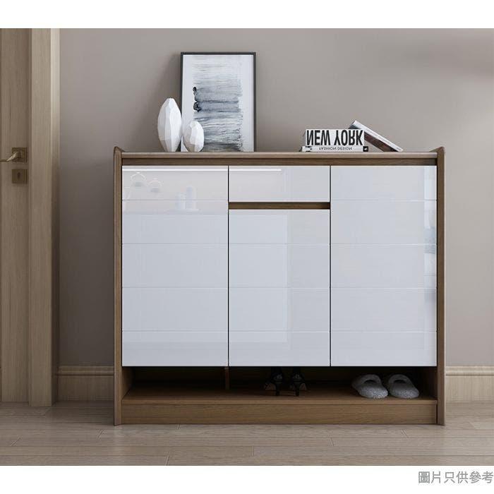 NEXA ESCB03 三門單櫃桶鞋櫃1209W x 366D x 1018Hmm - 胡桃色/白色