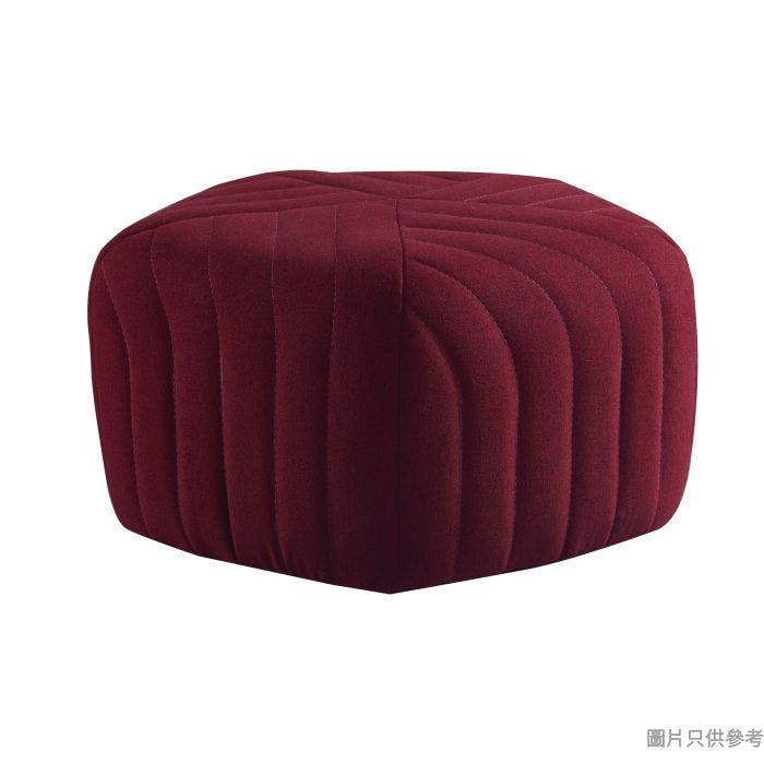 YK-3002 五角形布藝腳踏 - 紅色(1005)(E)460W x 460D x 260Hmm - 紅色