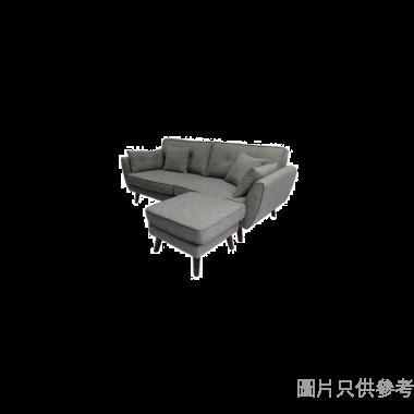 CHITTI卓蒂HOLLYZF-1304三座位布藝梳化連腳踏配三個咕0臣1820Wx520Dx450Hmm
