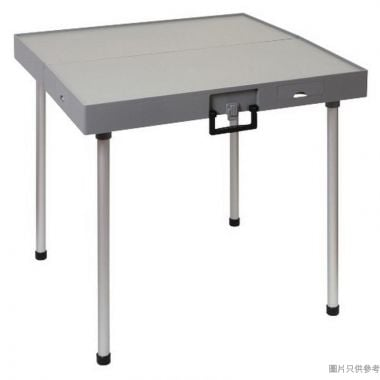 APOLLO輕便摺合式麻雀檯800W x 800D x 762Hmm - 淺啡色配灰色