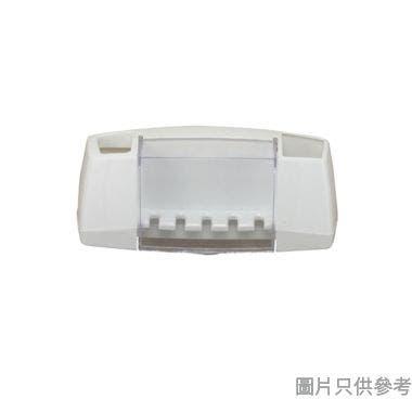Pricerite實惠塑膠牙刷座附吸盤23W x 8.5D x 9.5Hcm (承重2kg)