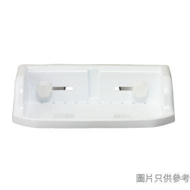 Pricerite實惠塑膠浴室架附吸盤 30W x 17D x 7.5Hcm (承重3kg)