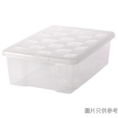 SOHO NOVO水立方床底塑膠儲物箱附蓋32L 405W x 605D x 190Hmm  - 透明