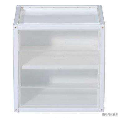 SHUTER台灣製2層組合塑膠櫃連門 360W x 290D x 360Hmm  - 透明色