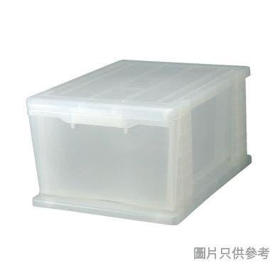SOHO NOVO新加坡製塑膠單層抽屜 370W x 500D x 245Hmm  - 透明色