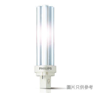 PHILIPS飛利浦 18W 827 2針4頭 PL-C慳電管-暖黃光