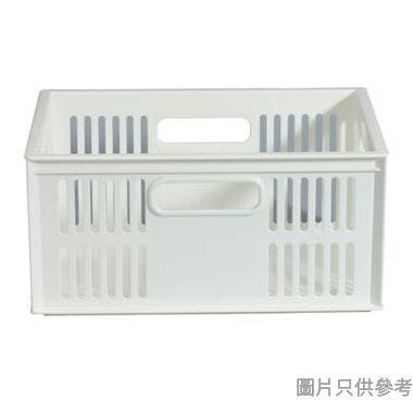 KEYWAY台灣製塑膠儲物籃 280W x 198D x 133Hmm - 白色