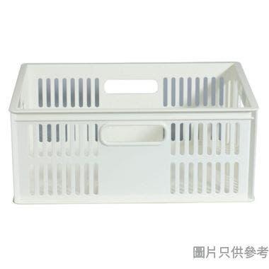 KEYWAY台灣製塑膠儲物籃 327W x 240D x 133Hmm - 白色