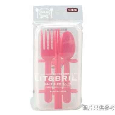YAMADA日本製塑膠餐具套裝 (筷子+羹+叉)1812