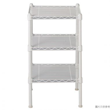 WHITE MESH 3層層架 350W x 350D x 600Hmm - 白色