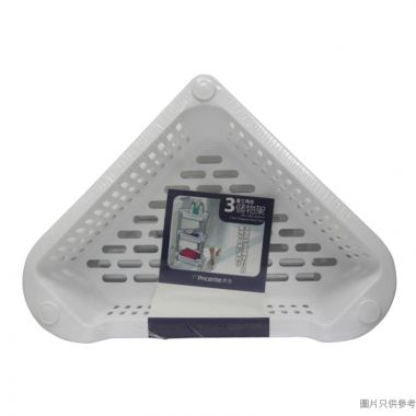 Pricerite實惠塑膠3層三角型浴室架 390W x 280D x 650Hmm