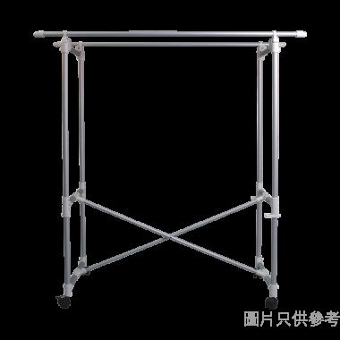 鋁合金摺疊式雙杆曬衣架(承重15kg)