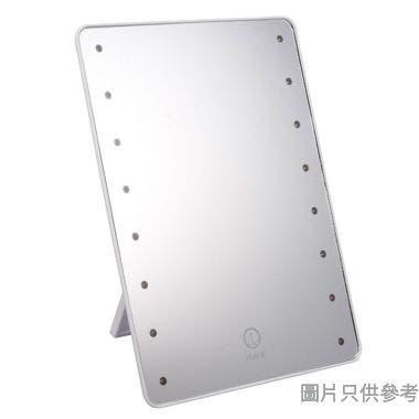 Itera長方形塑膠觸控式可調光暗 LED 座檯鏡 202W x 275Dmm