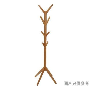竹木衣帽架600W x 600D x 1750Hmm - 原木色