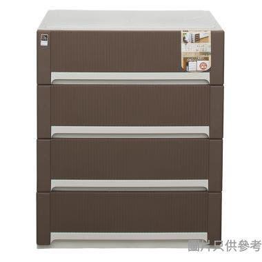 日本製塑膠四層櫃,650x447x796mm,啡色50(4段),#421579