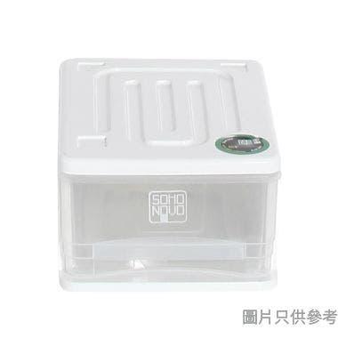 SOHO NOVO塑膠單層抽屜 6L 240W x 320D x 150Hmm - 白色