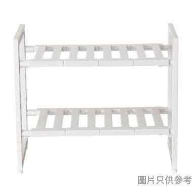 ARRANGE日本製2層塑膠伸縮廚用架 460-735W x 300D x 400Hmm