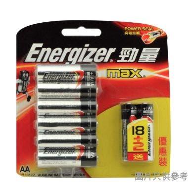 (203695)Energizer勁量2A 鹼性電池(18+2粒裝)