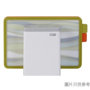 NATURNIC韓國製 塑膠砧板附刀架 37W x 25D x 10.5Hcm (2件裝)