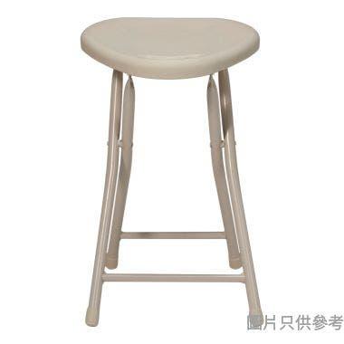 MIDA 三角膠面摺凳 305W x 300D x 463Hmm - 奶茶色