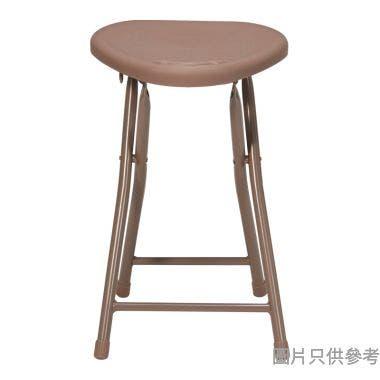 MIDA 三角膠面摺凳 305W x 300D x 463Hmm - 啡色