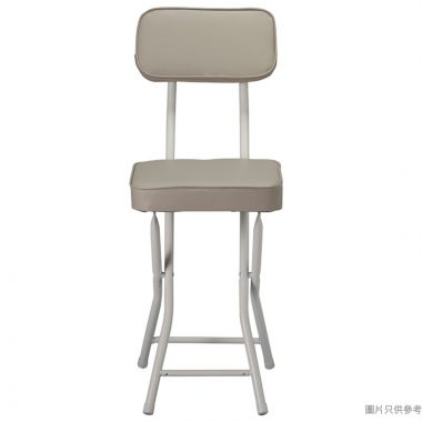 FOOM 方形厚座墊摺椅 300W x 470D x 750Hmm - 奶茶色