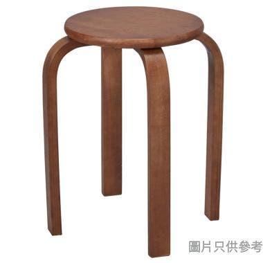 Classik 實木圓疊凳 310W x 310D x 450Hmm - 深木色